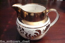 Old Foley Pottery James Kent England milk jar copper lustre on white[copbox]