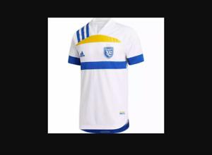 NWT 2XL Adidas MLS 2021 San Jose Earthquakes Away Quakes Jersey XXL GU2335 $130