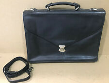 KORCHMAR Schlesinger Slim Brief Computer Messenger Leather Bag $195
