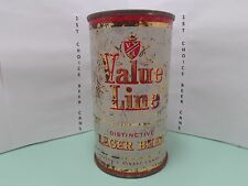 VALUE LINE LAGER FLAT TOP BEER CAN #143-16  MAIER  LOS ANGELES, CA.