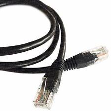 20M (65.6ft) Negro Cable Ethernet Cat5e RJ45 Red LAN Parche Plomo de cobre de 100%
