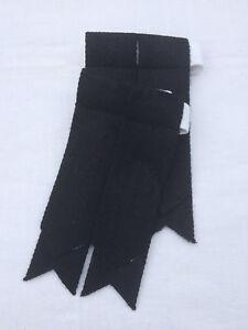 Scottish Kilt Sock Flashes Plain Black/Kilt Hose Flashes Black/kilt Flashes