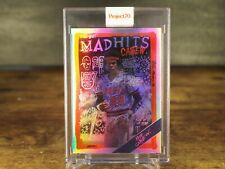 Topps Project 70 Card 163 1988 Rod Carew by Gregory Siff Rainbow Foil #32/70