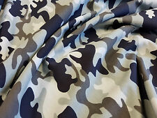 "Grey Camo Moro Sweatshirt Jersey Stretch Fabric 70"" 180cm wide, per half metre"