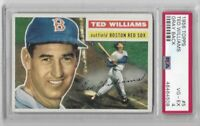 1956 Topps Ted Williams Gray Back PSA 4 No. 5