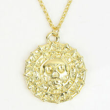 Pirates of the Caribbean Aztec Gold Coin Charm Pendant Necklace Gift