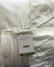 Pottery Barn Belgian Flax Linen Ruffle Duvet Cover Full/Queen White New