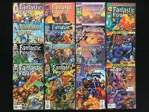 FANTASTIC FOUR Lot of 15 Marvel Comic Books - Complete v2 Set #1-13 +1v, & v3#1!