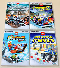 4 PC SPIELE SAMMLUNG - LEGO - RACERS 2 STUNT RALLY ISLAND XTREME STUNTS DROME