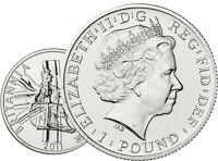 Großbritannien 1 Pfund 2011 Britannia Stempelglanz Münze in Münzkapsel