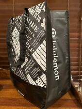 Lululemon Manifesto Reusable Tote Bag Eco Black Large Yoga Gym Shopping Travel