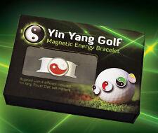 Yin Yang Golf magnetic energy bracelet gift box set 4 power discs ball markers