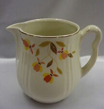 Vintage Hall Autumn Leaf Jewel T Rayed Utility Jug Pitcher