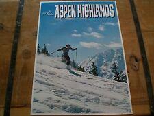 Vintage *ASPEN HIGHLANDS* SKI Area Poster in MINT CONDITION!