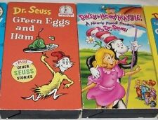DR SEUSS LOT Animated Kid VHS GREEN EGGS And HAM Other Stories DAISY HEAD MAYZIE