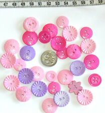 Precious Princess Pink & Mauve Novelty Fancy Buttons Sewing Quilting Crafts #306