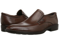 Ecco Men's Illinois US 12 M / EU 46 Brown Leather Slip-Ons Loafers Shoes $260.00
