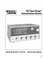 EICO Model 718 DX-718 Space Ranger Solid State Communication Receiver Manual
