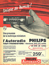 PUBLICITE ADVERTISING 015  1964  PHILIPS   auto- radio  tout transistor