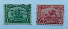 USA 1 & 2 Cent PILGRIM TERCENTENARY used stamps Scott 548 & 549 Issued 1920