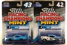RACING CHAMPIONS LEE & RICHARD PETY 1957 OLDS 88 & 1970 PLYMOUTH SUPERBIRD  LOT