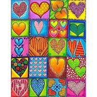 5D DIY Full Drill Diamond Painting Heart Cross Stitch Mosaic Craft Kits $S1
