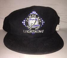 Vtg Tampa Bay Lightning Corduroy Snapback hat cap rare 90s NHL Hockey nwot DS