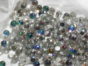 5pc Vitrail Helio Round Crystal Fire balls Rhinestone No holes 3/4 flatback 6mm