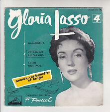 Gloria LASSO 45T EP MALAGUENA - AMOUR CASTAGNETTES TANGO Pourcel VOIX MAITRE 193