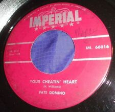 MB534 Fats Domino Your Cheatin Heart / When I Was Young 45 RPM Record