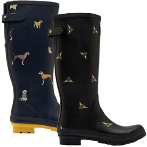 Joules Womens Welly Printed Waterproof Wellington Boots