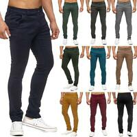 New Super Skinny Mens Chino Trousers Slim Fit Jeans Cotton Pants Bottom 28-40