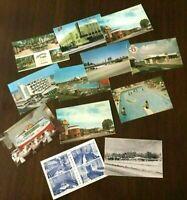 VINTAGE Postcard lot, estate-offering, RESTAURANTS/MOTELS, 11 DIFF of 12