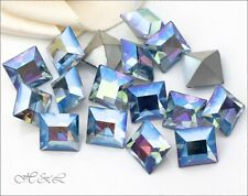 Swarovski Pointed Sapphire AB Crystals Square vintage pointback s/f 4400 4mm