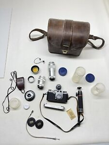 Leica Red Dial Lot 4 Lens Camera And More