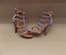 GIUSEPPE ZANOTTI SUEDE CAGE STRAPPY HEELED SANDALS>BN>37 4uk>SHOES>HEELS>STRAP