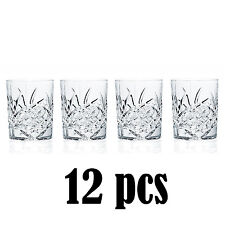 Old Fashioned Dublin Crystal Glasses Set of 12 Glass Wedding House Warming Gift