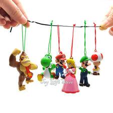 Christmas Tree Decoration 6 pcs Super Mario Bros Luigi PEACH DK Action Figures