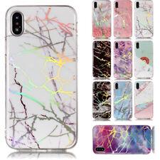 Elegant Shockproof Marble Pattern Cover Case Soft Plating for i Phone 5 5S X 8 6