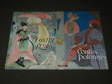 1960-1963 CONTES PUSSES & POLONAIS FRENCH BOOK LOT OF 2 - NICE ILLUS. - KD 4766