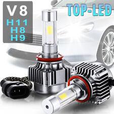 V8 H8 H9 H11 6000K 12000LM Car LED Turbo Light Headlight Kits Driving Lamps 80W