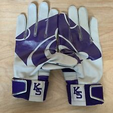 Nike MVP Hyperfuse Batting Gloves PGB446-125 Kansas State Wildcats Size Small