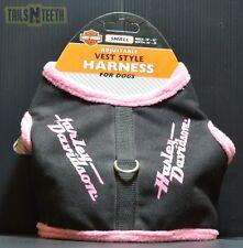 """Harley-Davidson Adjustable Vest Style Harness SM Pink - Neck 10-13 Girth 16-19"""""""