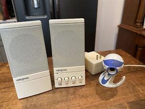 Creative Computer Speaker System Model by Cambridge Soundworks & Easycam