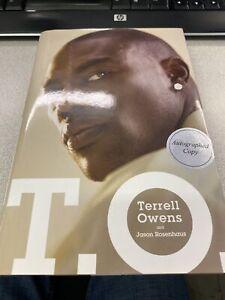 Terrell Owens Autographed Book T. O. Dallas Cowboys 49ers HOF Rare