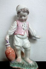 ANTIQUE 18th CENTURY HOCHST GERMAN PORCELAIN YOUNG BOY with JUG Figurine