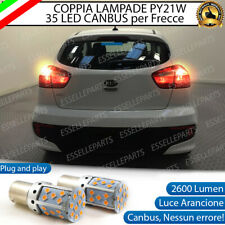 COPPIA LAMPADE PY21W BAU15S CANBUS 35 LED KIA RIO MK3 FRECCE POSTERIORI NO ERROR