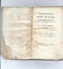 Libro Eloquentiae Latinae e Italicae Compendiaria Istituto Eloquenza Latina 1818