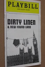 DIRTY LINEN & NEW-FOUND-LAND 1977 John Golden Theatre Playbill Booklet NYC