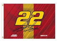 NASCAR Driver Flag-Joey Logano #22 Outdoor/Indoor 3'x5' Flag